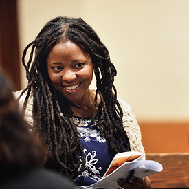 Mi'Jan Celie, Scholar and Student Interviewer